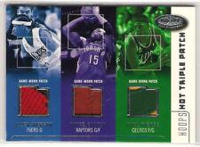 2002-03 Hoops Hot Prospects Triple Patch Iverson/Carter/Pierce