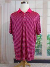 Adidas Size Large L Men's Polyester Golf Shirt Neon Pink