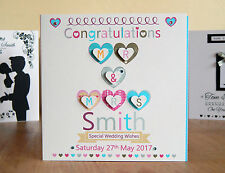 Wedding Card Personalised card Special Mr and Mrs card colourful Wedding card