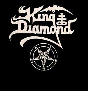 KING DIAMOND cd lgo WHITE PENTAGRAM LOGO Official SHIRT 2XL New mercyful fate