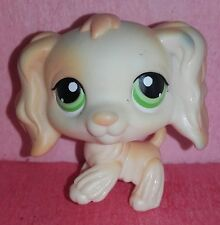 authentic LPS 347 EPAGNEUL littlest petshop chien DOG spaniel cocker tan HASBRO