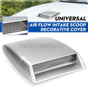 Universal Car Decorative Air Flow Intake Turbo Bonnet Hood Scoop Vent Cover