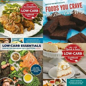 Low-Carb Cookbooks by George Stella - Set of four Low-Carb Cookbooks