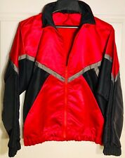 GK Elite WARM UP JACKET MENS SMALL IRIDESCENT RED BLACK NYLON Sz AS WAS $74.95!