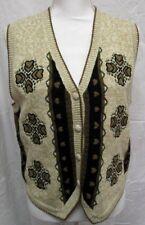 Sweater Vest Hearts Vintage Christopher Banks Medium Hand Embroidered