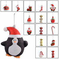 4 Pack Of Hanging Christmas Xmas Festive Tree Decorations Ornaments Baubles New