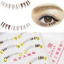 Brown 10Pairs Handmade Natural Under Bottom Lower False Eyelashes Eye Lashes