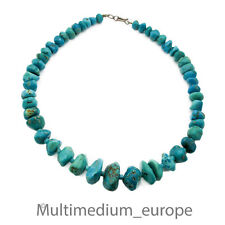 Türkis Halskette Steinkette Kette turquoise necklace 89,2g Mexiko Mexico