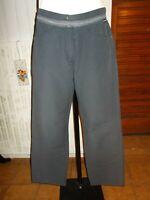Pantalon court pantacourt coton lin bleu marine SAINT JAMES petit 44 ou 42 N15