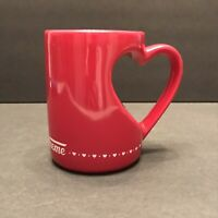 Krispy Kreme Donuts Red Heart Shaped Handle Coffee Mug Tea Cup Valentine's Day