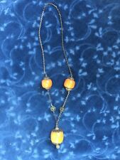 VINTAGE MOROCCAN BERBER LARGE COPAL AMBER BEAD  NECKLACE