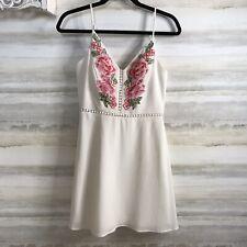 B. Darlin Embroidered Spaghetti Strap dress Fit & Flare Women's SZ 9/10