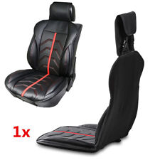 1x Black PU Leather Universal Car Front Seat Cover Bucket Seat Cushion Protector