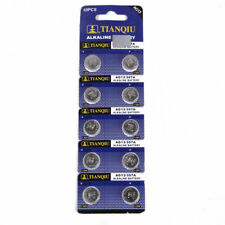 10PCS AG13 LR44 SR44  A76 Button Coin Cell Pack Alkaline Batteries GUT