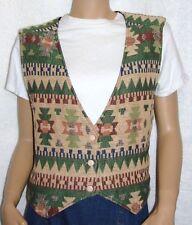 """Katch Me West Aztec Geometric Tapestry Size Large Vest (Bust 36"""")"""