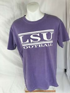 LSU Bayou Apparel Football Unisex Comfort Color 100% Cotton T-Shirt  Size:  M