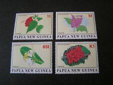 PAPUA NEW GUINEA, SCOTT # 907-910(4), 1996 COMPLETE SET FLOWERS ISSUE MVLH