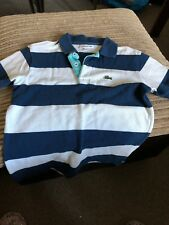 Genuine Lacoste Boys Striped Polo Shirt  Lacoste size 8 RRP £54.99