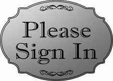 """Please Sign In"" elegant office door sign, medical office sign  - Free Shipping"