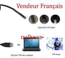 Endoscope 5M 7mm 6LED USB Waterproof  Borescope Video Camera *VENDEUR FRANCAIS