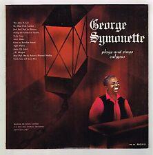 LP : GEORGE SYMONETTE- plays & sings calypso  (hear)   calypso  autographed