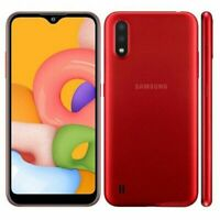 New Samsung Galaxy A01 Red Dual Sim Unlocked 16GB Smartphone 4G 2Y Warranty