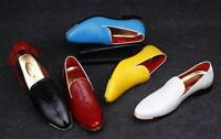 New fashion Men's oxford pointy hair dresser slip on leather casual shoes