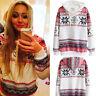 Winter Damen Hoodie Jumper Pullover Weihnachten Schneeflocke Sweatshirts Hooded