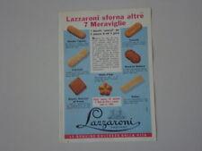 advertising Pubblicità 1960 LAZZARONI BISCOTTI