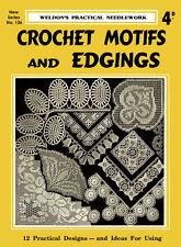 Weldon's 4D #136 c.1938 Pattern Book Vintage Style Crochet Motifs & Edgings