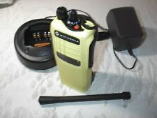 MOTOROLA HT750  VHF PORTABLE (136-174 MHZ) WITH ACCESSORIES NEW YELLOW  HOUSING
