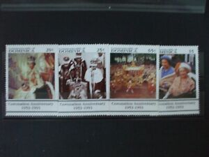 DOMINICA- 1993 40th anniv of Coronation. Full Set 4vs MNH Cat 6.95 (1A)