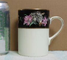 Franciscan Black Border Rafiki Jane Gaston Zebra & Lily Mug Cup