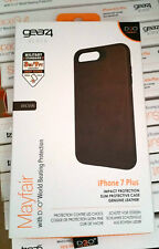 Gear4 ✔ iPhone 7 Plus Leather Case Cover Mayfair Brown Impact Protection