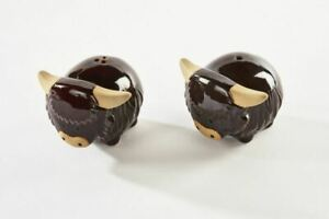 Scottish Highland Cow Ceramic Cruet Set