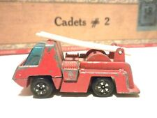 VINTAGE PLAYART RED FIRE ENGINE IS IN GOOD CONDITION WITH THE LADDER ON TOP NICE
