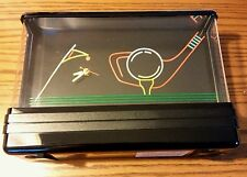 VINTAGE RARE - WALL HUNG TABLE GOLF SCENE NEON NIGHT LIGHT CLOCK - BAR PUB SIGN