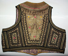 Judaica Antique Jacket Child Of Cérémonie Embroidered Cannetilles Gold Tunisia