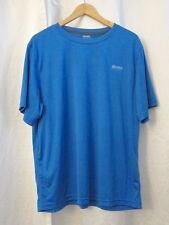 Reebok Play Dry Aqua Blue Short Sleeve Men's T-shirt Sz L XL Atheltic Wear EUC