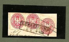 Preußen / DÜSSELDORF nur 1 großer Ra2 (40 mm) über WSt + Paar 16 auf GAA-Briefst