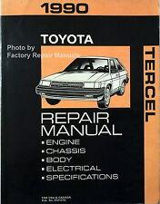 1990 Toyota Tercel Factory Service Manual Original Shop Repair Book