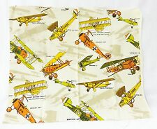 Vintage Old planes printed drapery fabric sewing