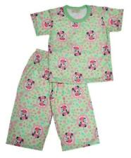 Green Minnie Mouse Print Pajama Set Girls Toddlers / Kids Sleepwear, L (5-6 y/o)