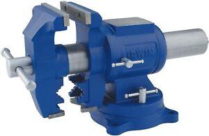 IRWIN 5-Inch Multi-Purpose Steel Bench Vise W. Rotating Pipe Jaws Model 4935505