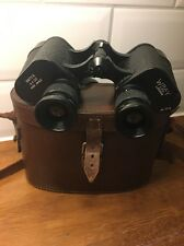 Antique WWII Era Binoculars WRAY Ltd London Wide Angle Britex 6x30 Leather Case