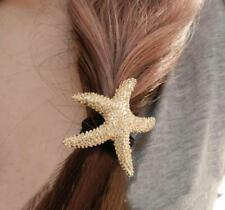 New Starfish Gold Pony Tie Barrette Women Hair Accent