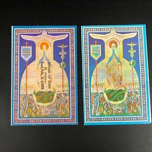 Vintage Legion of Mary Holy Prayer Card tri-fold 1950 St. Andrews Rockfalls, IL
