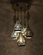 Moroccan 5 in 1 Hanging Pendant Lamps Lighting, ceiling light Chandelier