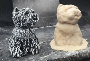 Latex Mould to make Garden Ornament Statue Westie Dog  Concrete IN STOCK REF B