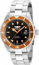 Invicta 43mm Gent's Orange Accented Bezel Dive Date Stainless Steel Watch 22022
